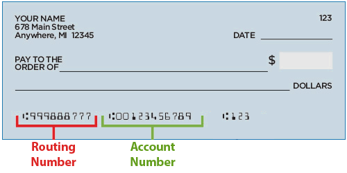 Routing and Account Numbers